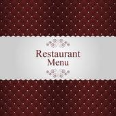 Restaurant or cafe menu design. Vector — Stock Vector