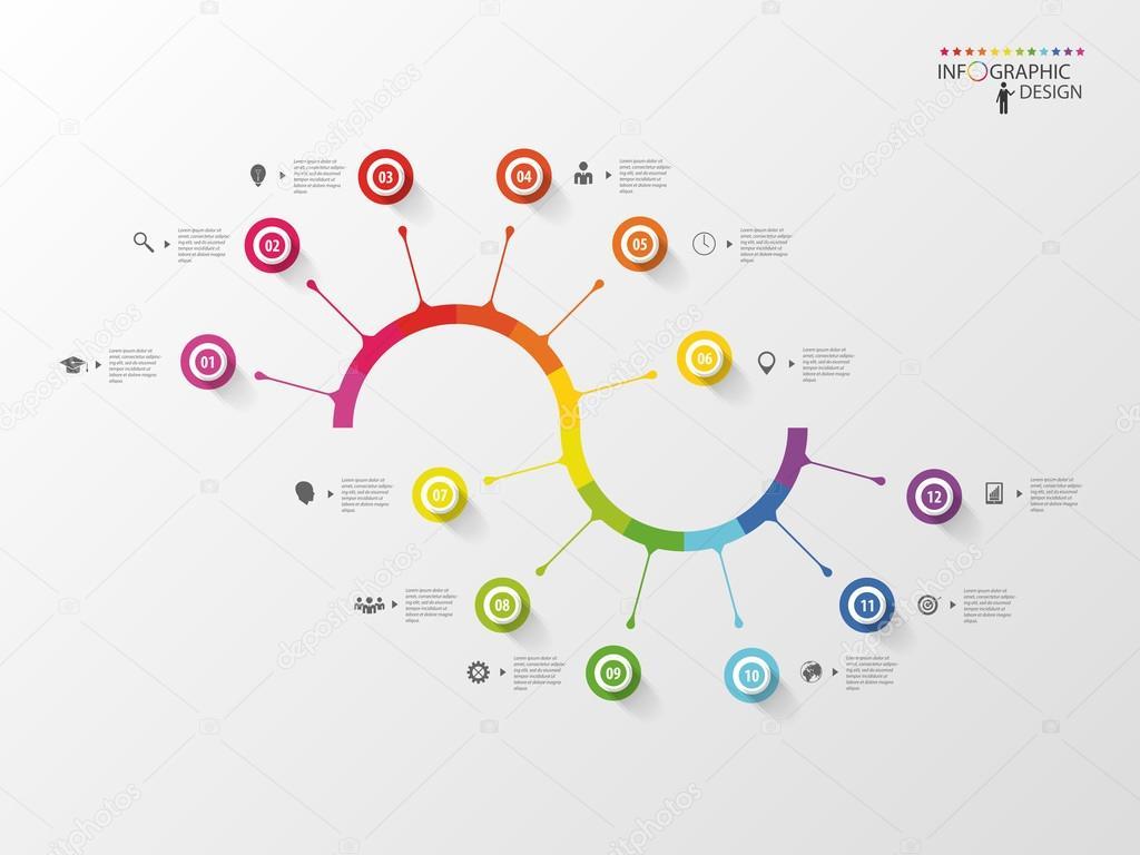 Make infographic timeline