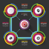Abstract circle infographic design template. Vector — Stock Vector