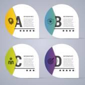 Infographik Entwurf weiße Kreise auf dem grauen Hintergrund. Moderne Vektor-illustration — Stockvektor