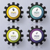 Renk-Infographics vites. Seçenekleri afiş. Vektör çizim — Stok Vektör