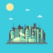 Futuristic City Landscape — Stock Vector