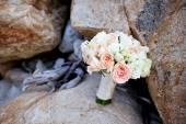 Den bueatiful bröllop buketten färska blommor — Stockfoto