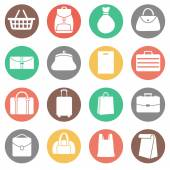 Set of Bags Icons — Stock Vector