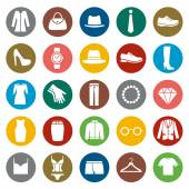 Set of Clothes Icons — Stock Vector