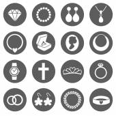Set of Jewelry Icons — Stock Vector