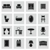 Furniture icons set. — ストックベクタ