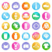 Clothing store icons — Vector de stock