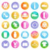 Clothing store icons — Vettoriale Stock