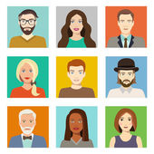 Avatars profile pictures — Stock Vector