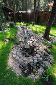 шале в лесу — Стоковое фото
