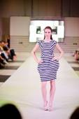TERNOPIL UKRAINE - MAY 17: Podolyany Fashion Week.  May 17, 2015 — Stock Photo