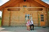 Wedding beautiful couple in traditional dress — Stock Photo