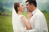Wedding couple close up — Stock Photo