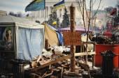 KYIV, UKRAINE - JANUARY 2014: Euromaidan. Revolution of Freedom. — Stok fotoğraf