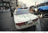 Kijów, Ukraina - lutego 2014: Euromaidan. Rewolucja wolności — Zdjęcie stockowe