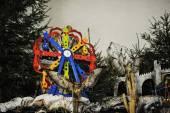 Christmas nativity crib sets — Stockfoto