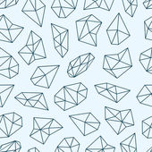 Geometric pattern with crystals in polygon style. — Vettoriale Stock