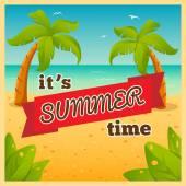 Es ist Sommer-Zeit — Vecteur