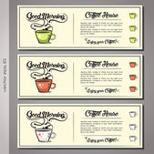 Coffee House cards — Stock Vector