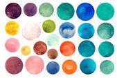 Watercolour circle textures — Stock Vector