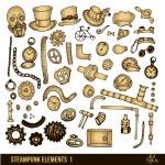 Steampunk elements set — Stock Vector #71495413