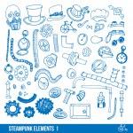 Steampunk elements set — Stock Vector #71495429