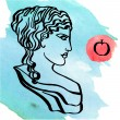 Ancient Greek goddess — Stock Vector #71495813