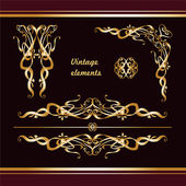 Golden vintage borders — Stock Vector