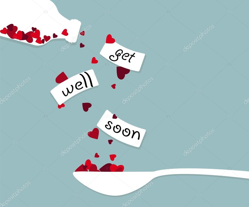 Postcard for lovers. get well soon — Stock Vector ...
