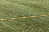 Football pitch with yellow lines — Stock Photo
