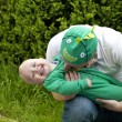 Happy father playing with his son — Stock Photo #75047675