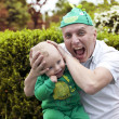 Happy father playing with his son — Stock Photo #75048687