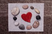 Heart music love background wallpaper design — Stock Photo