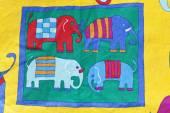 FIGURE elephants abstraction — Stock Photo