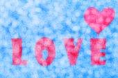 Abstract Love Heart bokeh — Stock Photo
