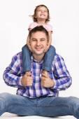 Heureux père et fille — Photo