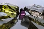 Dekorativa glas skärvor — Stockfoto