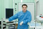 Doctor endoscopist in the operating room — Stock Photo