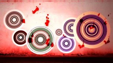 Design circle splatters — Stock Video