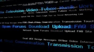 Digital communication footage — Stock Video
