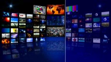 Aktualności wirtualne studio — Wideo stockowe