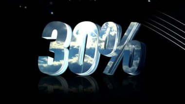 Thirty percent discount — Stock Video