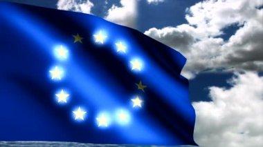 Avrupa Birliği bayrağı — Stok video