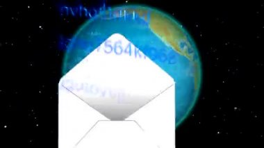 E-mails send to world — Vídeo de stock
