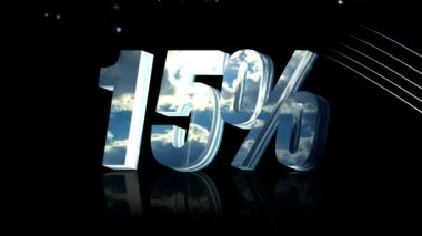 Fifteen percent discount — Stock Video