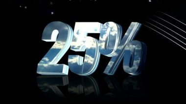 Twenty five percent discount — Stock Video