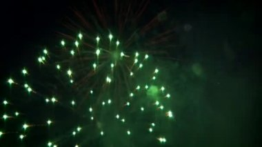 Holiday firework and flashes — Stock Video