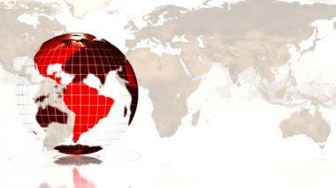 Världen världen bakgrund — Stockvideo
