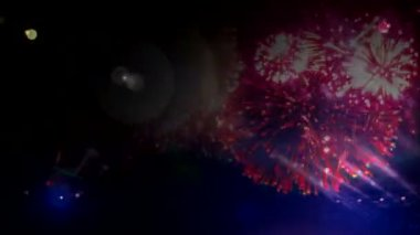 Firework and flashes background — Stock Video